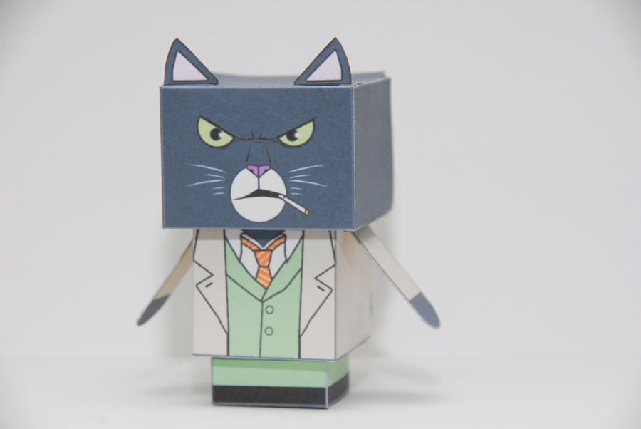 Blacksad cubeecraft by scarykurt on DeviantArt