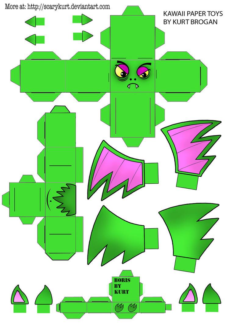Boris the Bat Halloween Cubeecraft by scarykurt