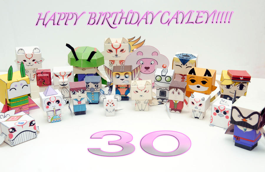 Happy 30th Cayley! by scarykurt