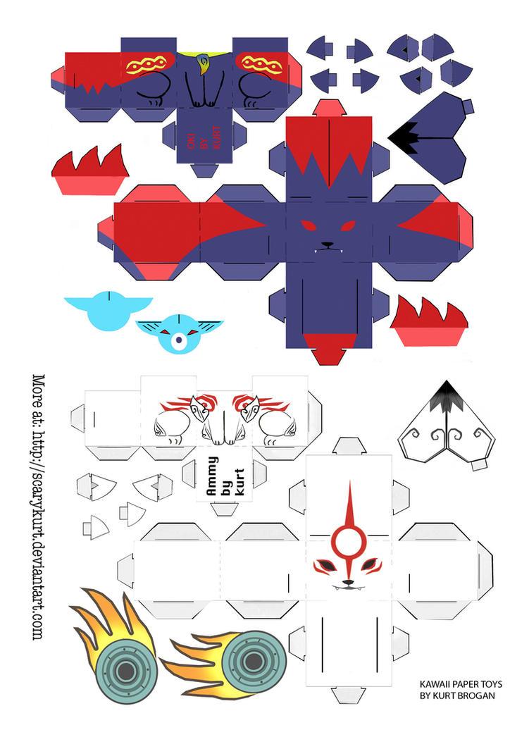 Okami mini cubeecraft by scarykurt