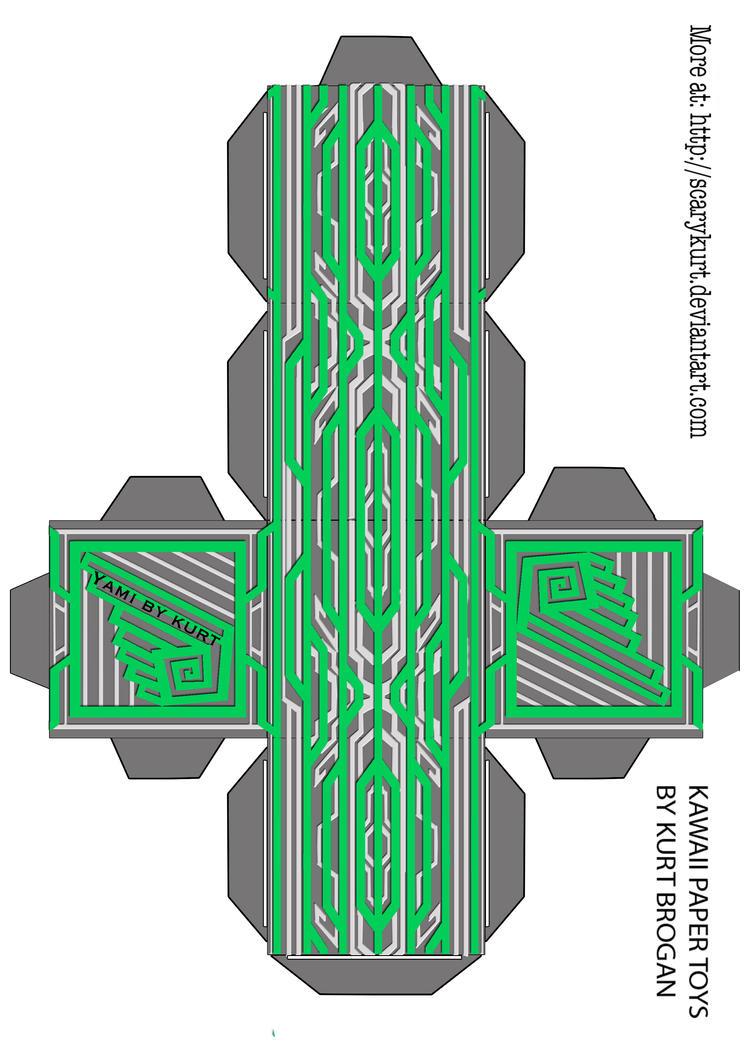Okami Yami 2nd form Cubeecraft by scarykurt