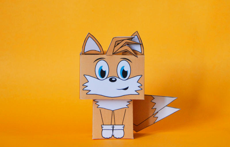 Sonic the Hedgehog Tails cubeecraft by scarykurt