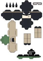 Batman V Superman Knightmare Batman Cubeecraft by scarykurt