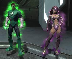 DCUO Hal Jordan and Carol Ferris