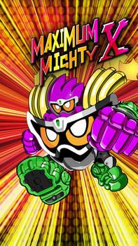 Maximum Mighty X Gashat Art