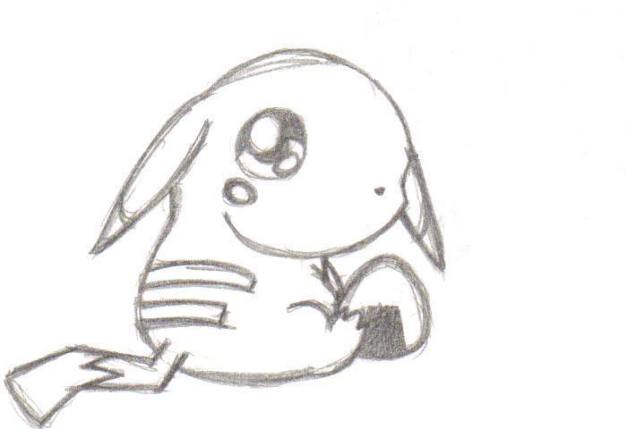 how to draw chibi pikachu