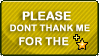 Please Dont Thank Me STAMP by Puff-Dahh