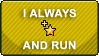 I Fave And Run STAMP by Puff-Dahh