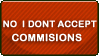 Don't Accept Commisions STAMP by Puff-Dahh