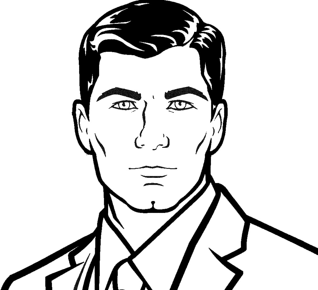 Line Art Face : Archer face lines by starfox on deviantart