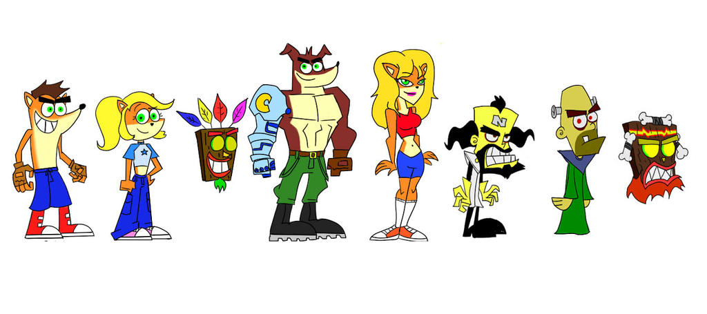 crash bandicoot characters by deusexmachinaalert on deviantart