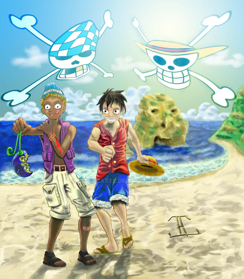 Monkey D. Luffy And Spanky By Downcaste On DeviantArt