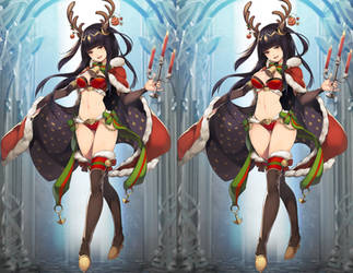 Christmas Tharja  (Fire Emblem Roulette Morph) by Morphy-McMorpherson