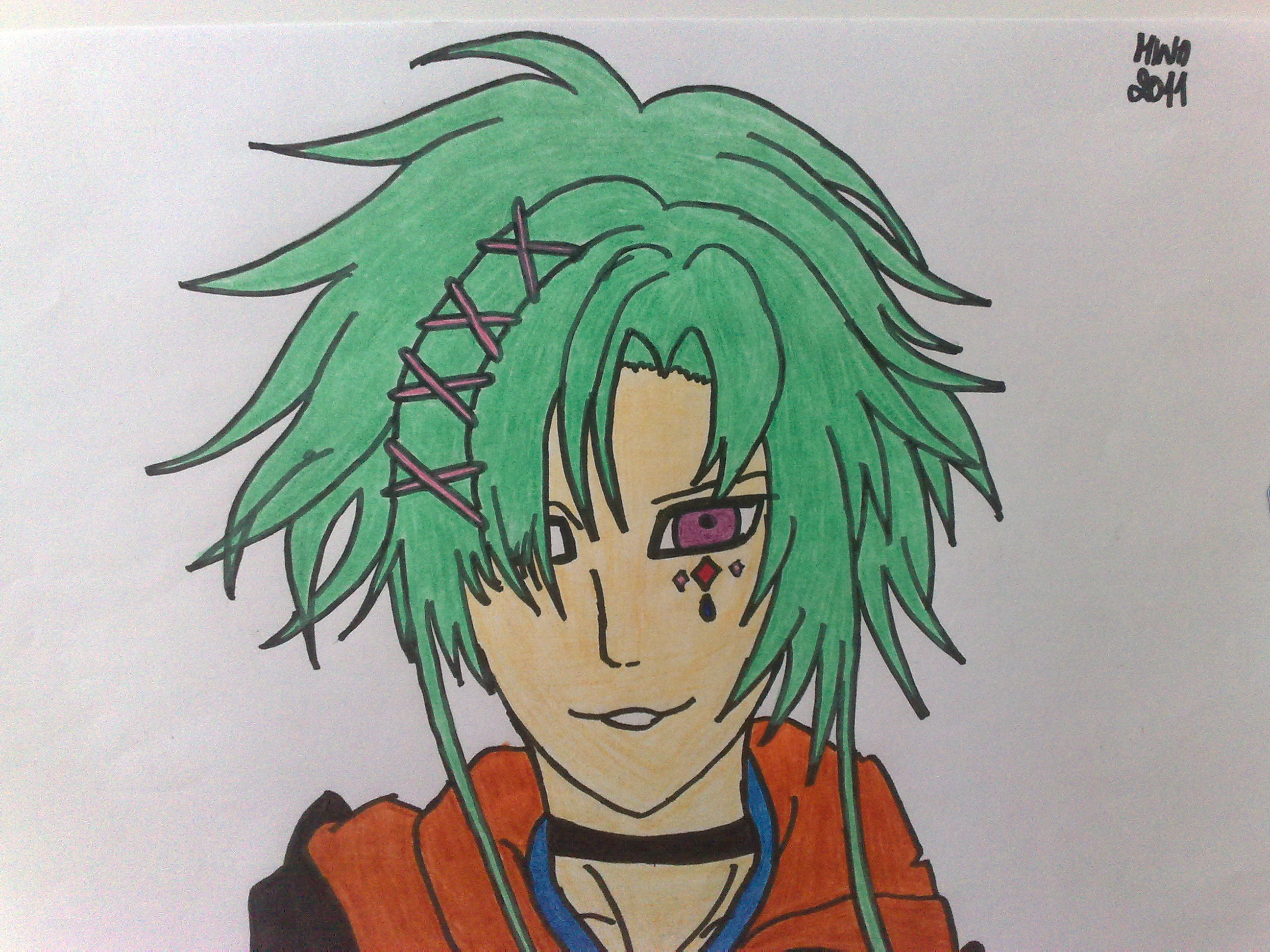 Boy With Green Hair By Gaarinka On Deviantart