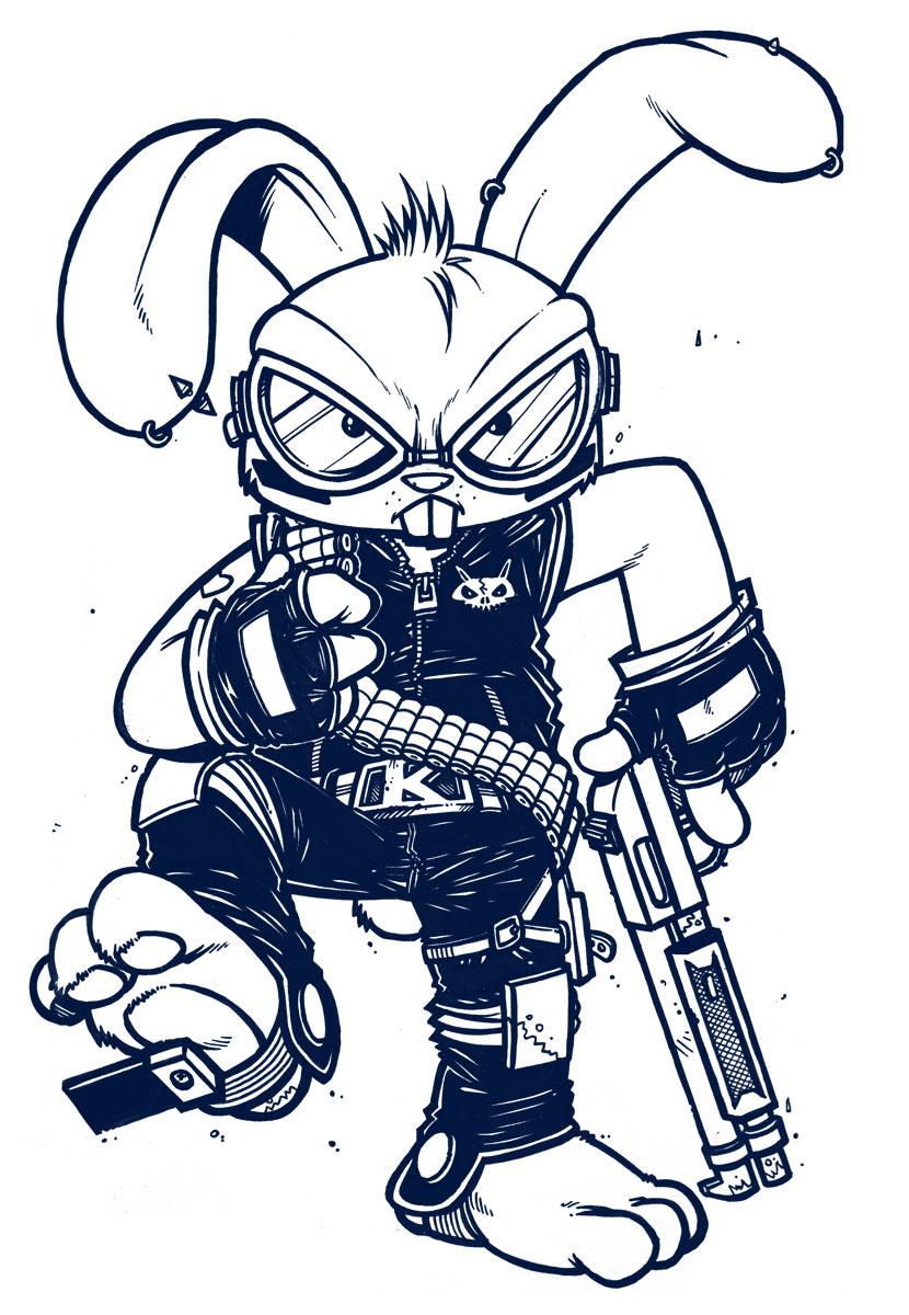 Conejo en caricatura - Imagui