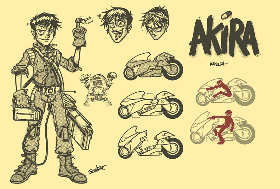 Akira Kaneda by petipoa