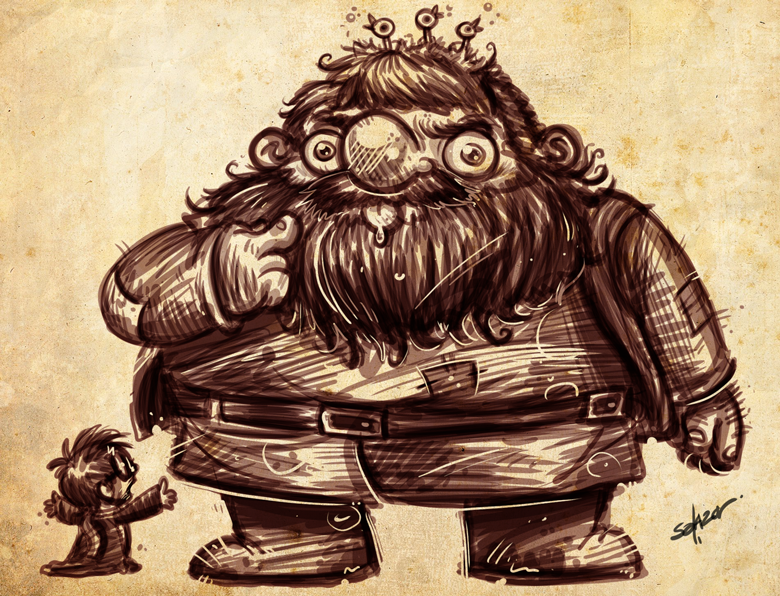 Harry Potter Hagrid By Petipoa On Deviantart