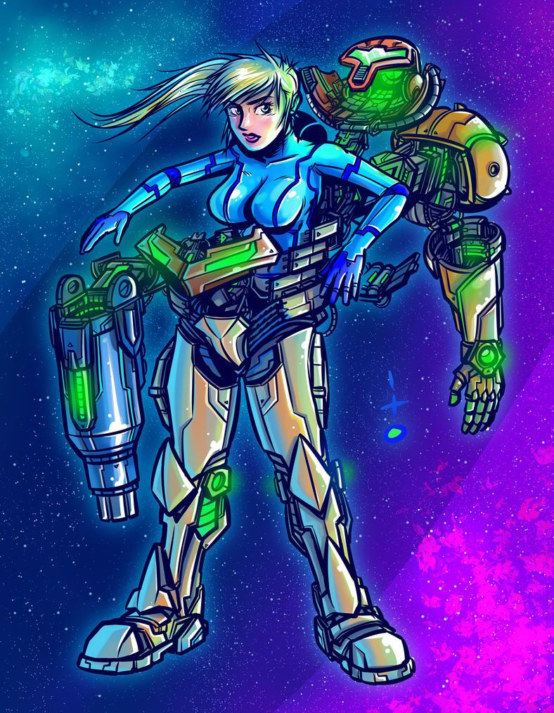 Samus aran zero suit in space 8