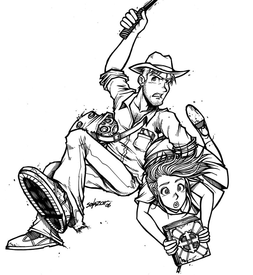 coloring pages indiana jones - photo#24