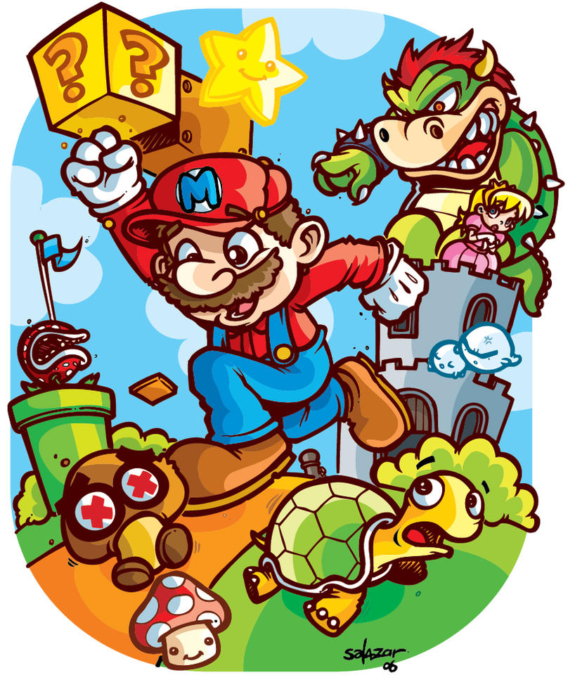 Super Mario Bros Level by petipoa