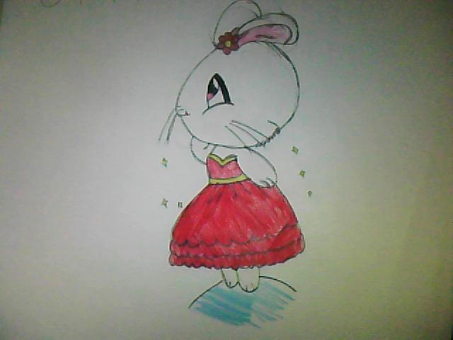 bunny in a dress by sweetcookie34