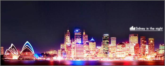 Sydney in the night 01