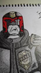 Judge Dredd Sketch (Close-up) by ChrisM38