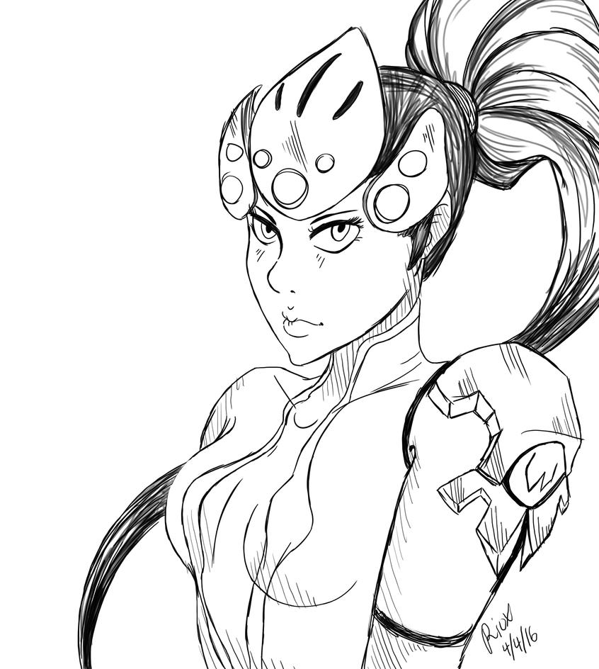 Line Art Editor : Overwatch widowmaker by rioxnation on deviantart