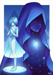 Steven Universe: Blue Diamond and Blue Pearl