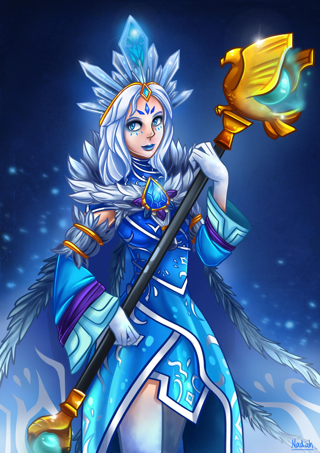 Dota 2: Crystal Maiden Custom Arcana by Kisetsukaze on ...