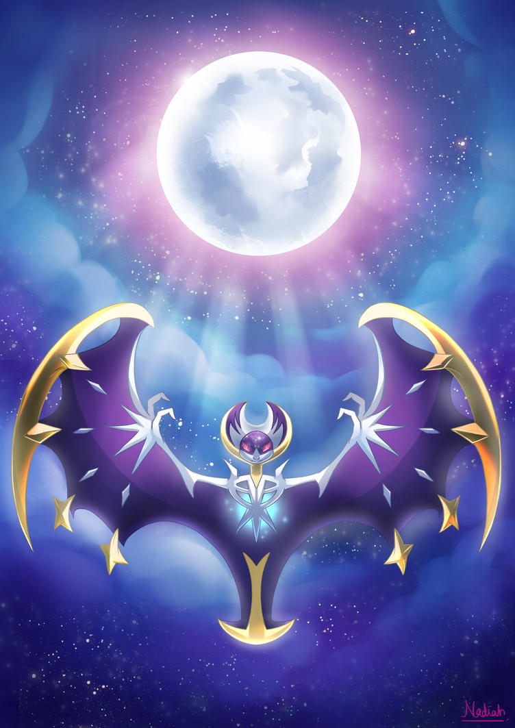 Pokemon Moon Legendary Lunaala By Kisetsukaze