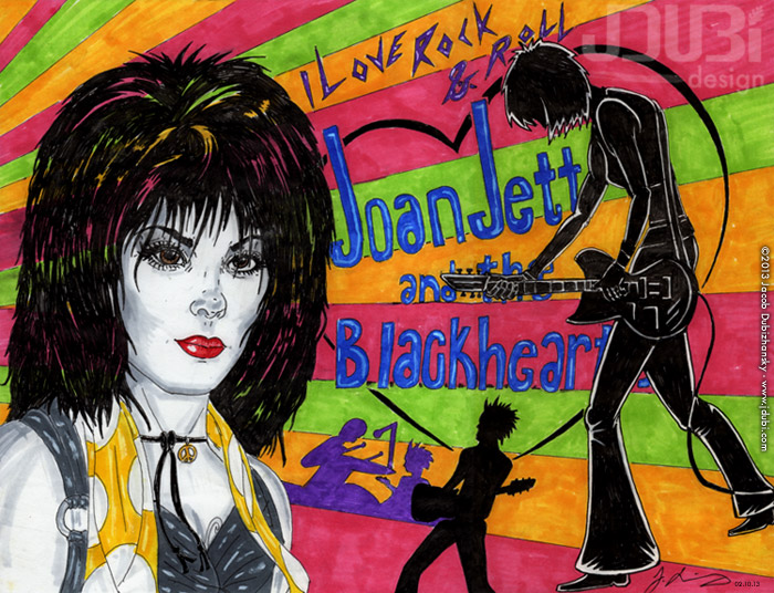 Joan Jett and the Blackhearts by J-Dubi