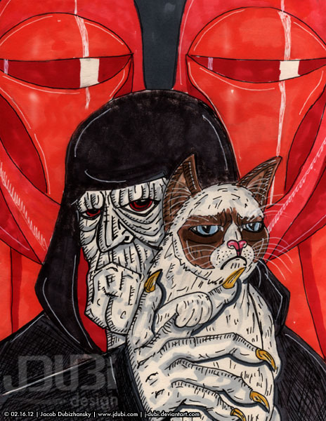 The Emperor's New Grump - Grumpy Cat by J-Dubi