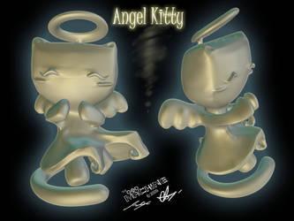 Angel Kitty Figurine by MrMoldavia