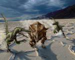 Velociraptor attack Bagaceratops