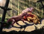 Biarmosuchus tener and Estemmenosuchus mirabilis
