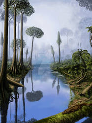 Carboniferous period by Plioart