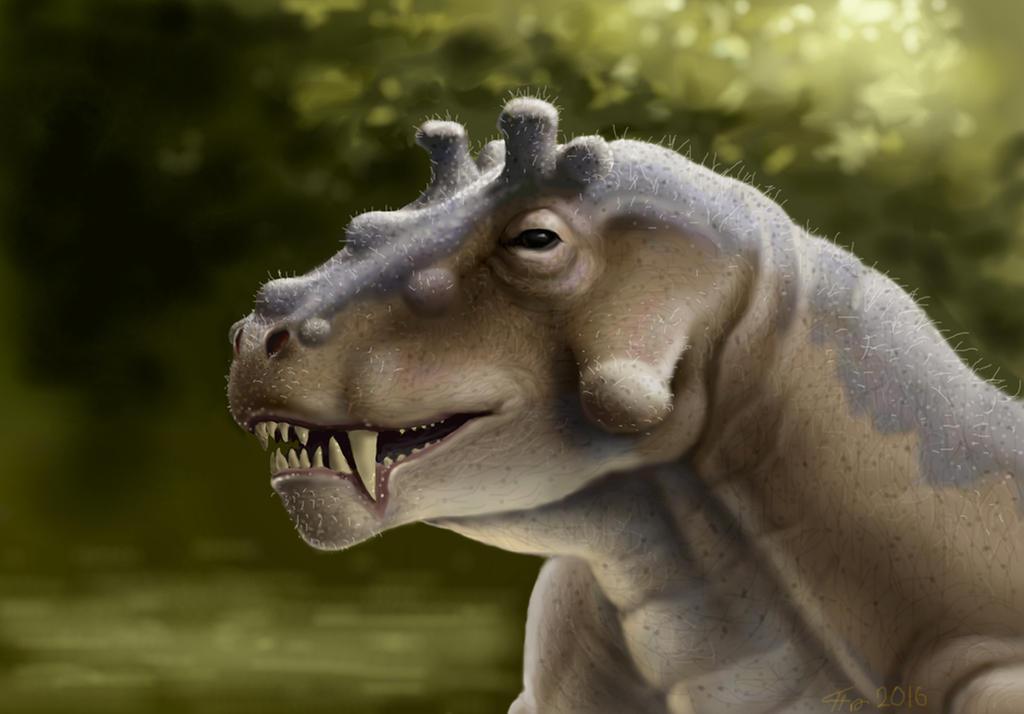 Estemmenosuchus uralensis by Plioart