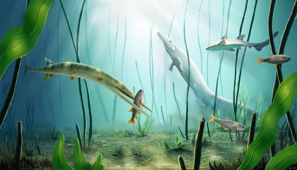 The swampy sea of the Triassic.