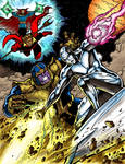 Thanos Vs Silver Surfer Color