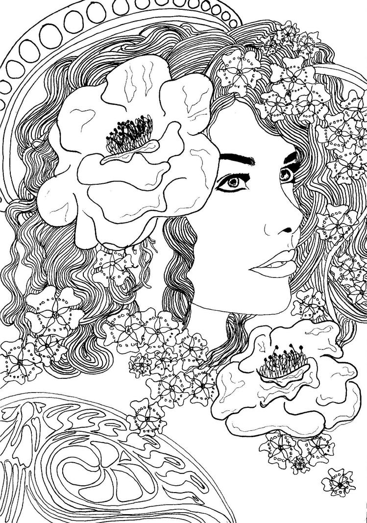 Taylor Nouveau Black And White By Livelife92 On Deviantart Black And White Coloring Pages For Adults