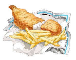 Fish + chips