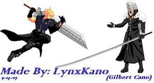 Cloud and Sephiroth  Sprites