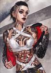 Jack Mass Effect fullsize 2020 commission by NyutaValerius