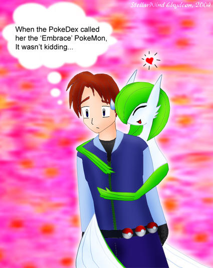 Gardevoir and trainer gardevoir the embrace pokemon