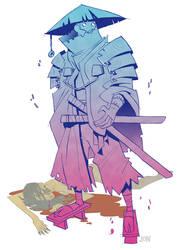 Samurai doodle by J0N-Lankry