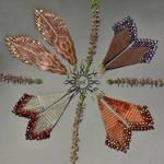 Beadwoven fringes autumn earrings