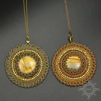Twin golden medallions