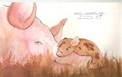 .:Piggies for Papa:. by fluffy-panda101