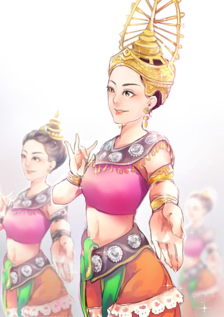 Sukhothai dance by newchar